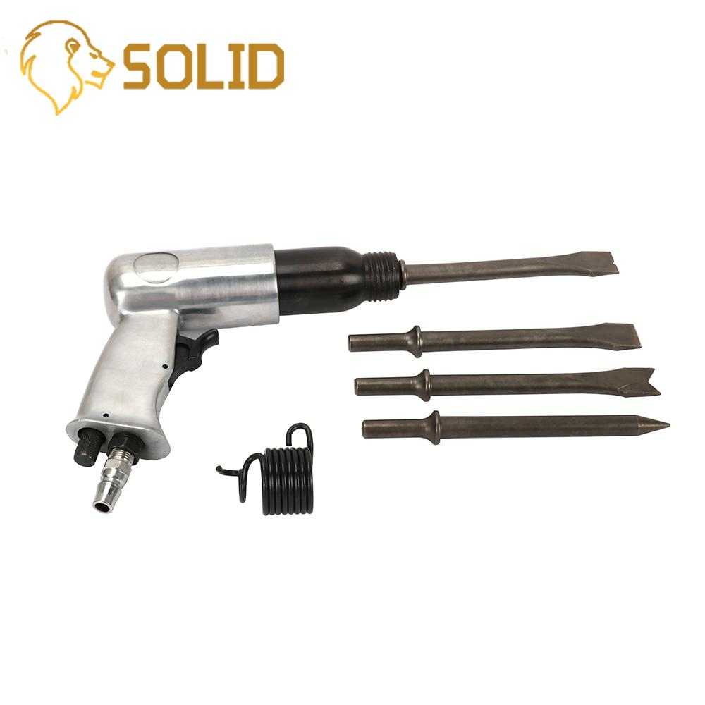 """Pneumatic Tool 1/4"""" 150mm Handheld Pistol Gas Shovels Air Hammer Small Rust Remover Pneumatic Tools with 4 Chisels Pneumatic Tools     - title="""