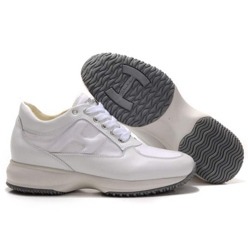 2020 Hogan Women Trainers Running Sneakers White Breathable Sport Caual Shoes Women's Outdoor Fashion Walking Heighten Shoes