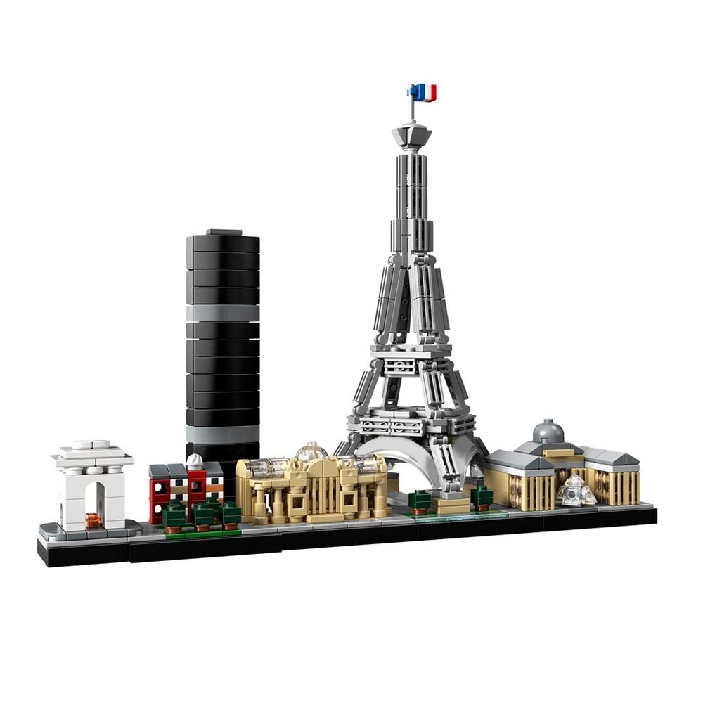 Diy Building Blocks Compatible 21044-1 Paris Architecture Technic Bricks Gifts MOC Diy Toys For Children Kids