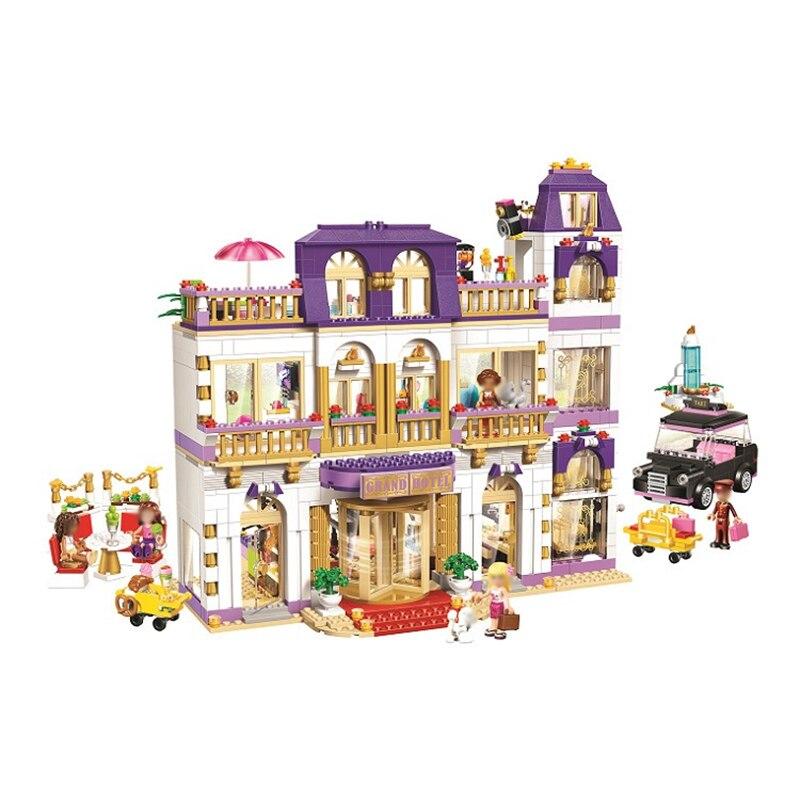 1676Pcs Heartlake Grand Hotel เพื่อนบล็อกอาคารอิฐเข้ากันได้ Legoinglys เด็ก DIY ของขวัญวันเกิดของเล่นเด็ก-ใน บล็อก จาก ของเล่นและงานอดิเรก บน   2