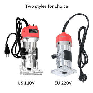 Image 5 - 220V 650W Electric Trimmer Handheld Laminate Edge Trimmer Collet Wood Router Woodworking Milling Engraving Slotting Machine