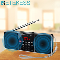 RETEKESS TR602 الرقمية راديو محمول AM FM سمّاعات بلوتوث ستيريو MP3 لاعب TF/SD بطاقة محرك أقراص USB يدوي دعوة LED عرض