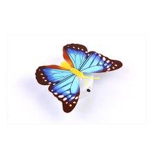 Luces LED luminosas de mariposa colorida cambiante, adhesivo para pared de lámpara, decoración creativa para fiesta en casa, fiesta de boda, regalos para niños, 1 Uds.