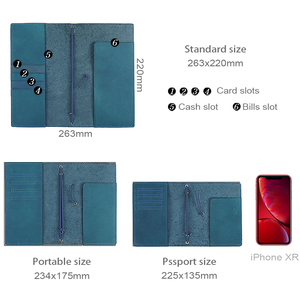 Image 2 - 50 Pieces / Lot Passport 130x105mm Genuine Leather Notebook Handmade Travel Journal With Card Holder Diary Sketchbook Planner