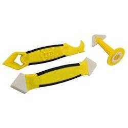 3 sztuk zestaw narzędzi uszczelniających  żółty uszczelniacz silikonowy wykończenie i wymienić narzędzie do usuwania za pomocą dyszy uszczelniającej w Uszczelniacze od Majsterkowanie na