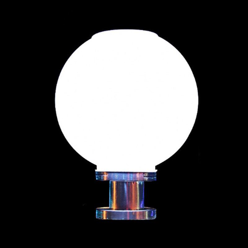 criativo bola redonda de aco inoxidavel solar pos luz ao ar livre a prova dwaterproof agua