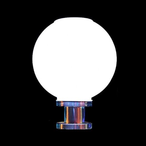 criativo bola redonda de aco inoxidavel solar pos luz ao ar livre a prova dwaterproof