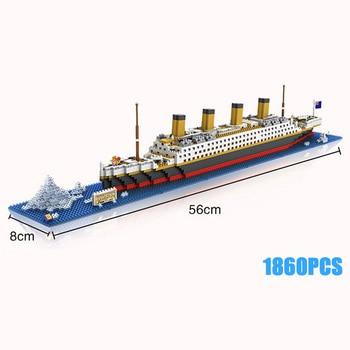 Classic Deluxe Cruise Titanic ship toys micro diamond block movie scenes building bricks nanobricks assemble toys collection