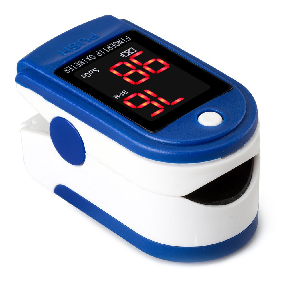 Finger Pulse Fingertip Pulse Blood Oximeter  Heart Rate Monitor Saturation Monitor  Detector Health Care Tool