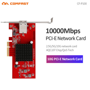 CF-P100 10G Ethernet 2.5G/5G/10G PCI-E Wireless Network card adapter PCIE-X4 10Gbps Fast transmission Dongle for Windows / Linux