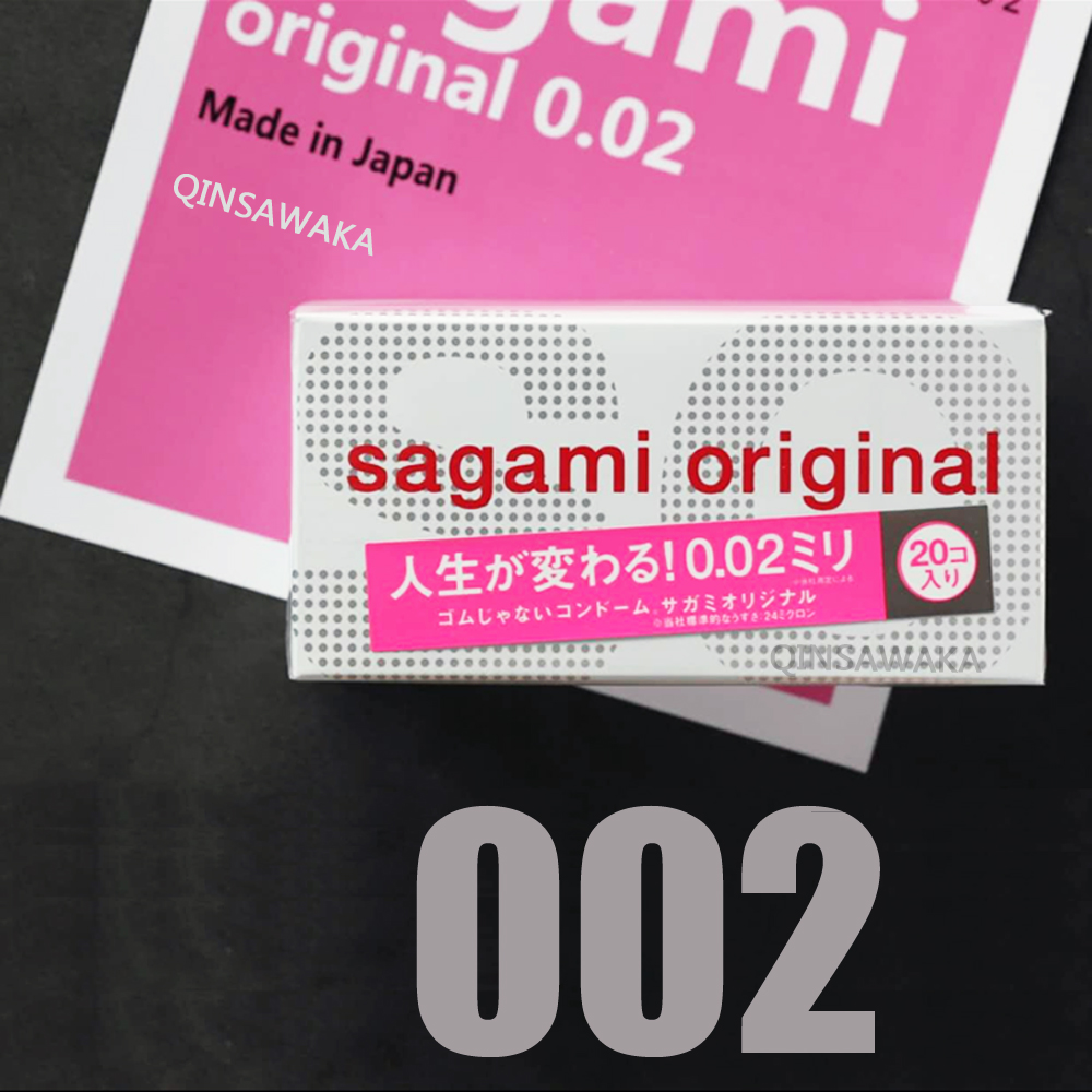 Made in Japan 20pc 0.02mm super THIN like not wearing happiness 001 SAGAMI ORIGINAL condom NON-LATEX Polyurethan M size Sex men
