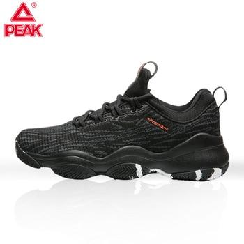 PEAK Men's Shoes Breathable Net Shoes Autumn Wild Student Trend Black Walking Shoes Non-slip Wear-resistant Sports Casual Shoes