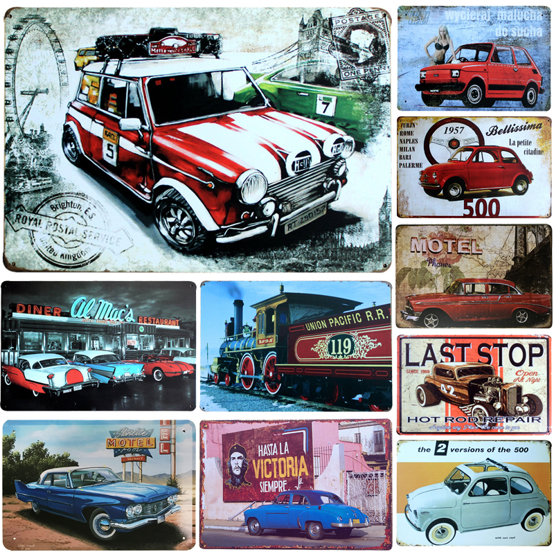 Decoration Retro Car Metal Plate Vintage Metal Tin Sign Retro Plaque Poster Bar Pub Club Wall Home Decor Wall Sticker Poster