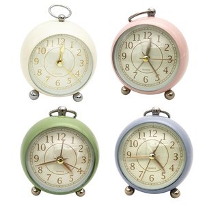 Alarm Clock Home Decor Bedside Desk Clock Vintage Silent Mute Quartz Analog Battery Operated Non-Ticking for Kids Bedroom