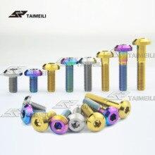 1 шт./мотоцикла тормозной диск крепежный винт titanium сплав GR5 материал M8x15/20/25/30/35/40 мм
