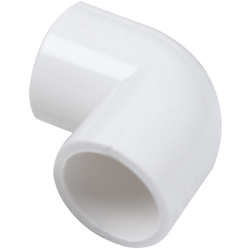 5 Pieces 20mm Dia 90 Angle Degree Elbow PVC Pipe Fittings Adapter Connector White image