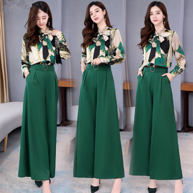 H27e421b4aab14a9ba1a4620769877cd1g - Summer Two Piece Set OL Women Sets Plus Size Two Piece Set Top And Pants Wide Leg Pants Woman Tracksuit /outfit/suit/Set 2 Piece