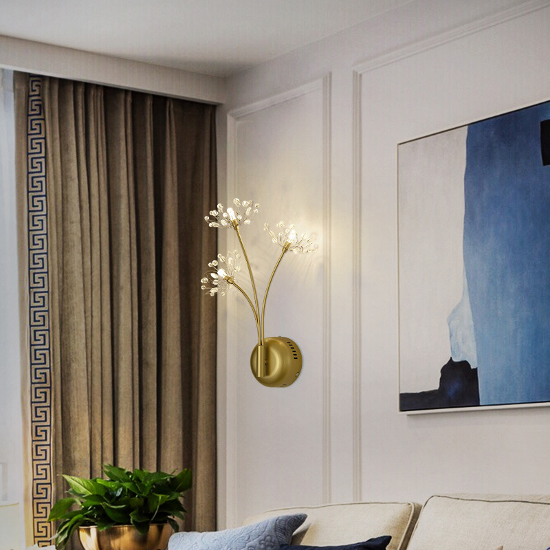 Northern European Style Light Luxury Gold Wall Lamp Creative Art Hallway Bedside Lamp Corridor Stairs TV Cabinet Wall Small Wall|Downlights| |  - title=