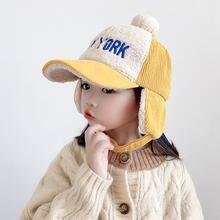 Детская зимняя бейсбольная кепка для маленьких девочек и мальчиков