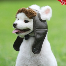 Warm Dog Pilot Hat Leather Dog Cap Cheap Pet Caps For Dogs Hats Pets Products Funny Cosplay Pet Dog Halloween Hat For Chihuahua