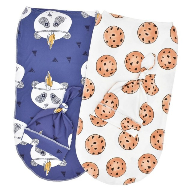 2 Pcs/Set Baby Sleeping Bag And Cap Printed Cute Baby Blanket And Hat Bedding For Newborn Babies Infants Hot 6