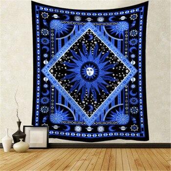 Tapiz colgante de pared de poliéster Mandala patrón manta rectángulo de moda ninguno marco colgante de pared tapices decoración del hogar nuevo