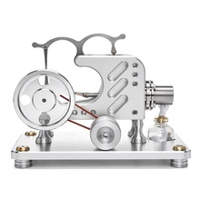T16-03 Balance Metal Cylinder External Combustion Stirling Engine Model Educational Toy metal baseboard double cylinder micro diy stirling engine external combustion engine