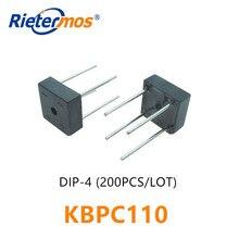 200 pièces KBPC110 1000V DIP4 KBPC1005 KBPC101 KBPC102 KBPC104 KBPC106 KBPC108