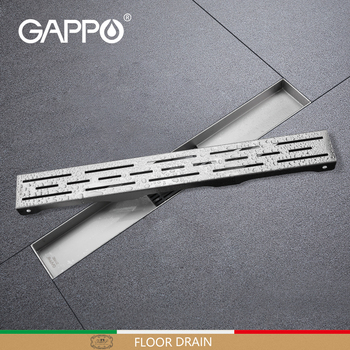 GAPPO Drains Stainless Steel Shower Floor Drain Bathroom Drainer Strainer Anti-odor Shower Room Drain Long Linear Drainage Drain