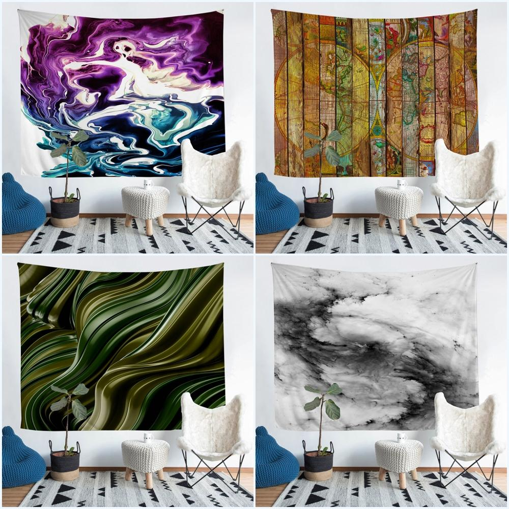 Japanese Style Wall Hanging Tapestry Nordic Home Decoration Wall Art Table Cloth Bedroom Landscape Painting Tapestry