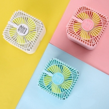 Square 2-in-1 Humidifier Quiet Mini Fan Portable Desktop Air Coolers Smart Personal Cooling Tool for Summer Home Office