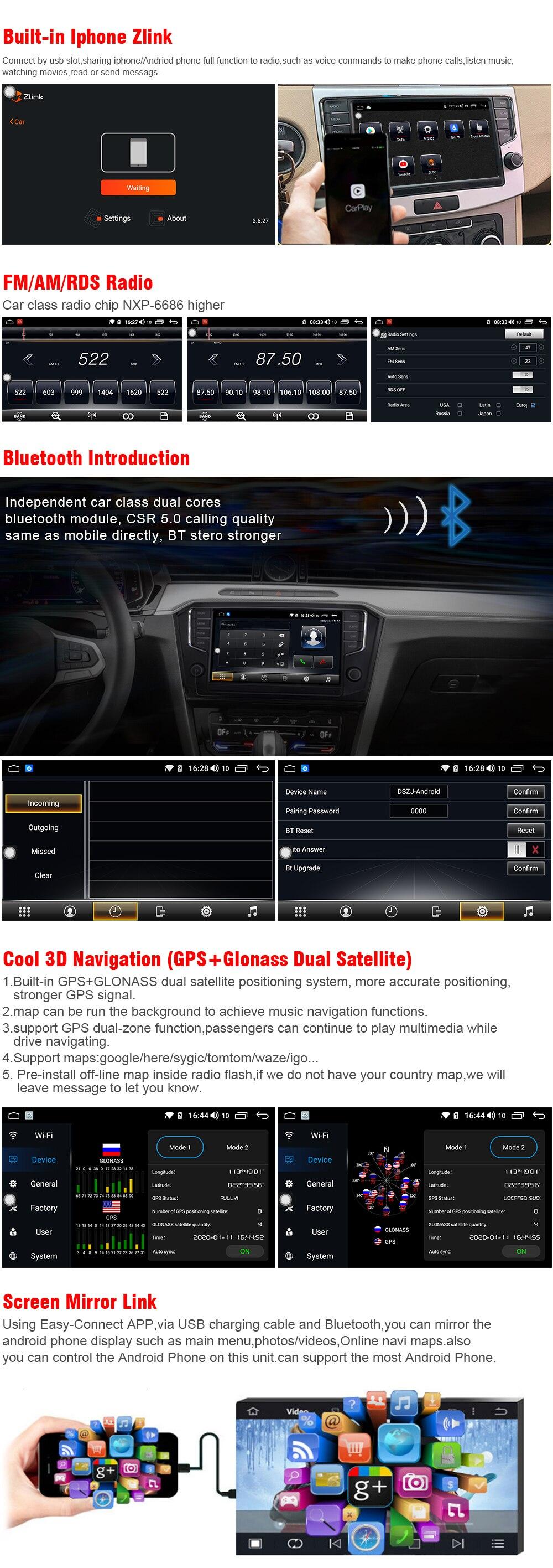 Digitalradio Bluetooth USB Mirrorlink Sygic GPS Verkehrsinfo Navigation TypeBuilt Android 8.1 Autoradio Radio Navigationssystem F/ür VW Volkswagen Passat B7 B6 Magotan CC 2010-2015 G/ürtel DAB