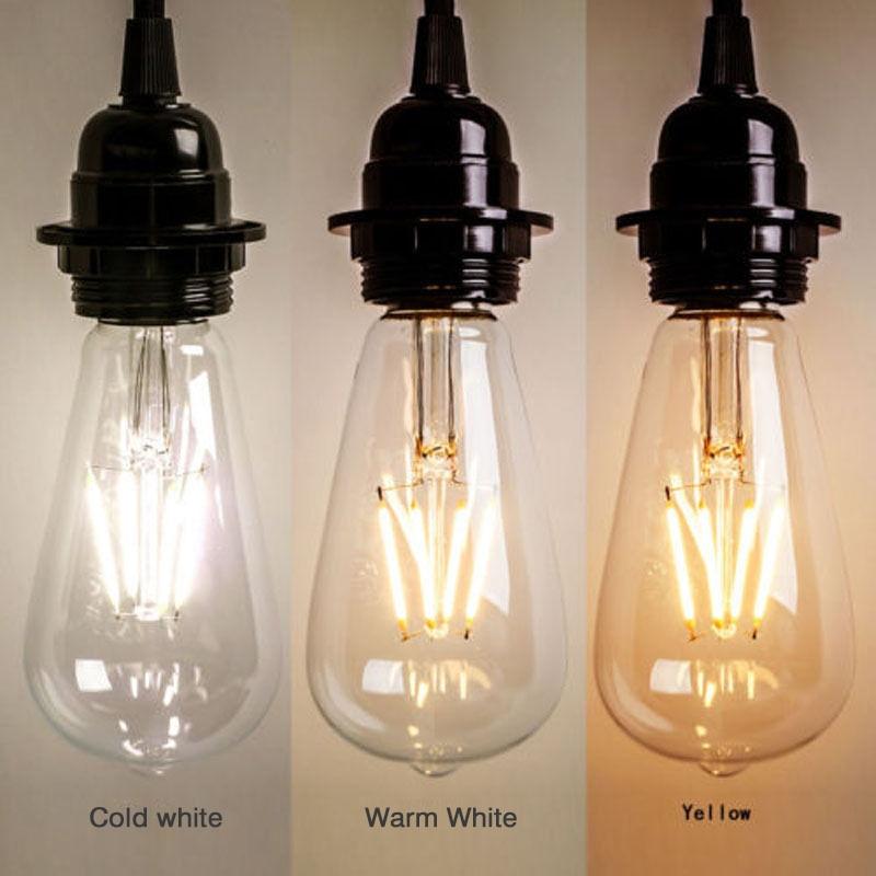 Светодиодный стеклянный светильник E27, 220 В, 2 Вт, 4 Вт, 6 Вт, 8 Вт, светодиодный винтажный Ретро-светильник, лампа накаливания