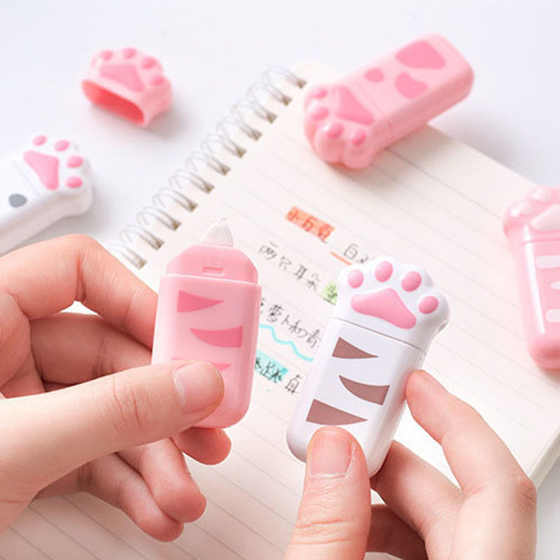 Kawaii Cute Cat Claw Correction Tape Erasers Corrector School Office Supply Student Stationery Kids Gift
