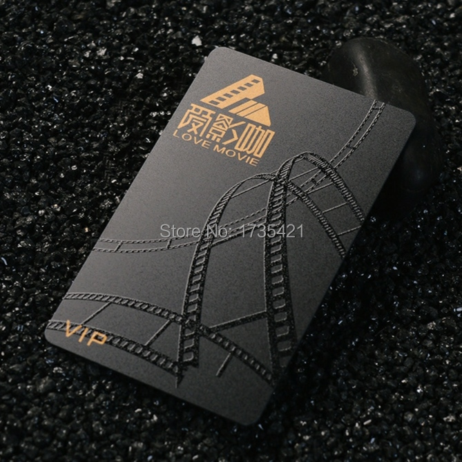 Plastic Membership Card With Gold And Silver Hot Stamp Vip Business Pvc Plastic Card