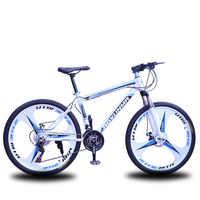 Bicicleta de montaña todoterreno que absorbe golpes para estudiante adulto, bici con neumático duradero de 26 pulgadas y frenos de disco dobles, 21, 24 o 27 velocidades