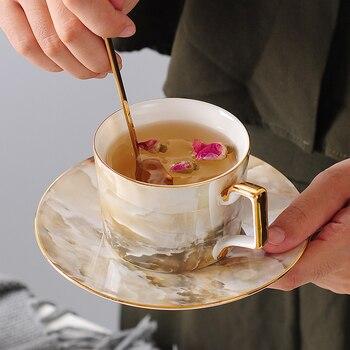 Taza De Café De Cerámica Simple De lujo y platillo, Espresso De...