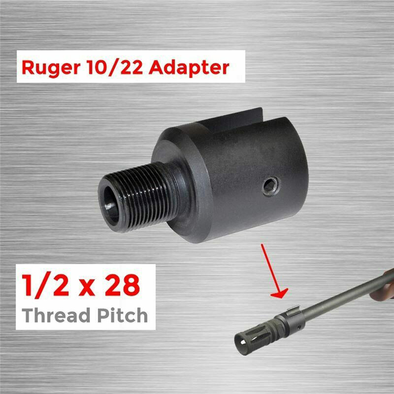 10/22 Ругер намордник тормозной адаптер с тремя винтами и один гаечный ключ Комо. 223 1/2x28 баррель конец резьбовой шаг адаптер Алюминий 1 шт