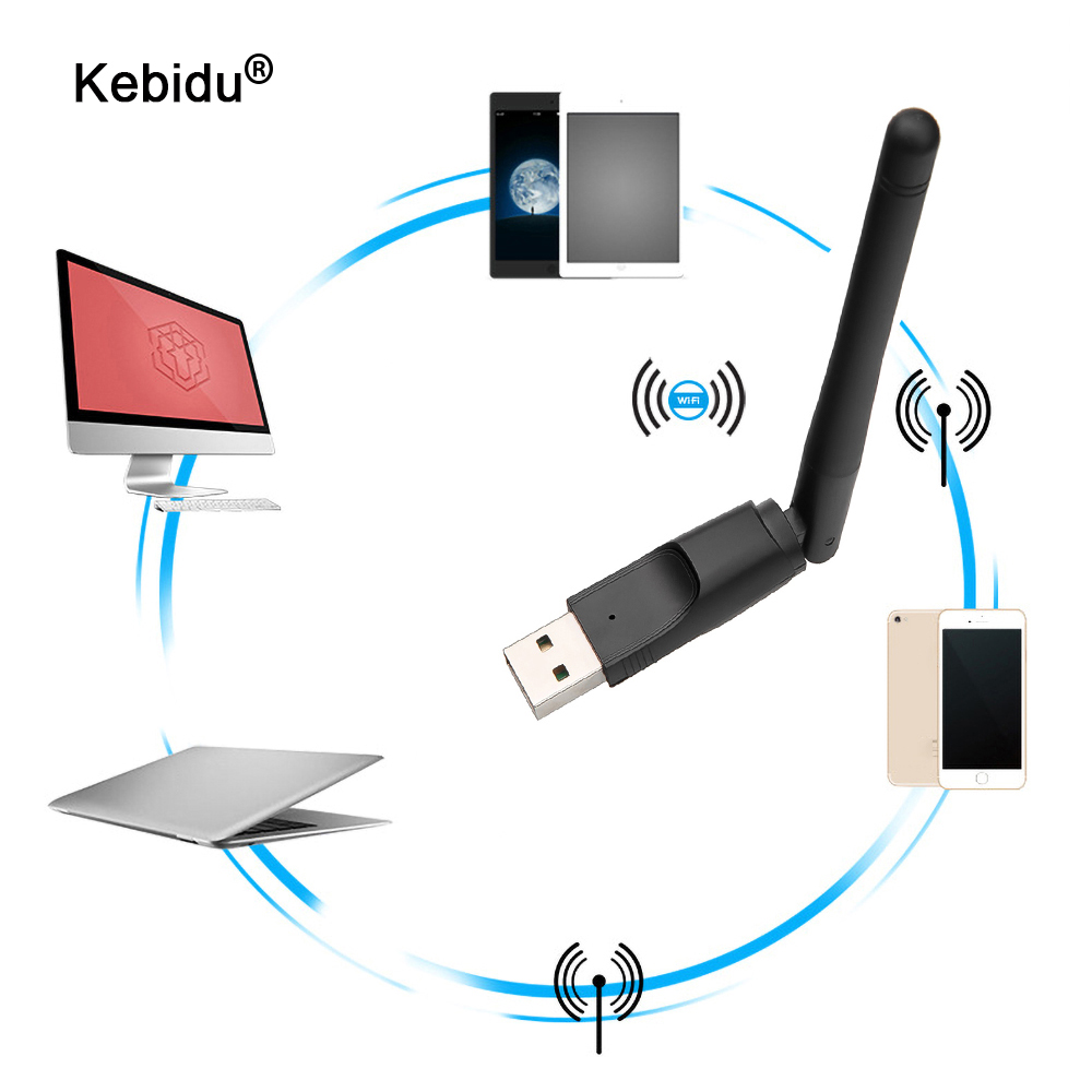Беспроводной мини USB Wi-Fi адаптер kebidu сетевая LAN Карта MT7601 150 Мбит/с 802.11n/g/b сетевая LAN Карта Wi-Fi ключ для ТВ-приставки