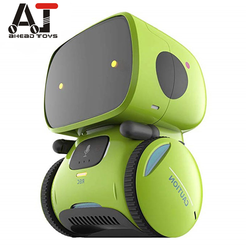 Newest Type Smart Robots Dance Voice Command 3 Languages Versions Touch Control Toys Interactive Robot Cute Toy Gifts For Kids