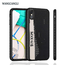 Wangcangli For iPhone 6 7 8 XS XR Sneakers Mobile Shell for iPhone 6S 7 8 XS Plus Mobile Shell Non-slip Anti-drop Material Cover цена 2017