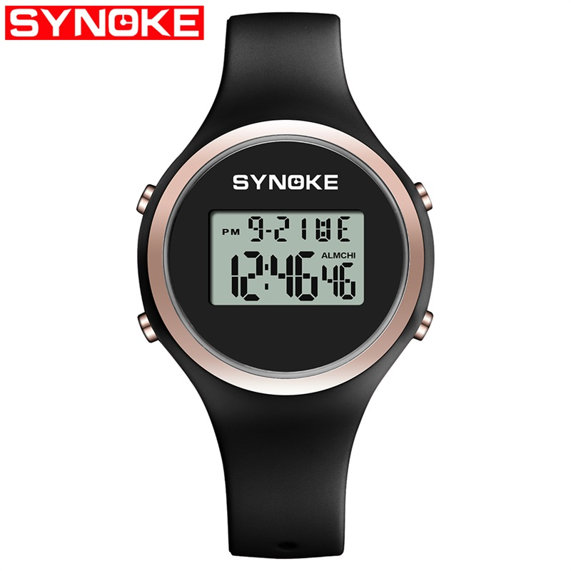 Fashion Digital Watch Children Students Casual Shockproof LED Display Waterproof Silicone Strap Electronic Watch Couple Watch