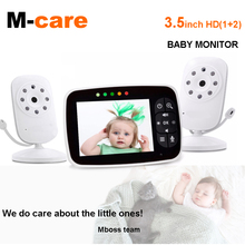 3.5 Inch Wireless Baby Monitor With Two Digital Camera Temperature Sensor, Lullabies, ECO Mode, Two Way Talk Monitor Bebe