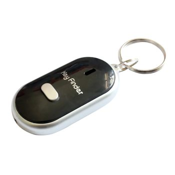Hot Anti-Lost Key Finder Smart Find Locator Keychain Whistle Beep Sound Control LED Torch Portable Car Key Finder image