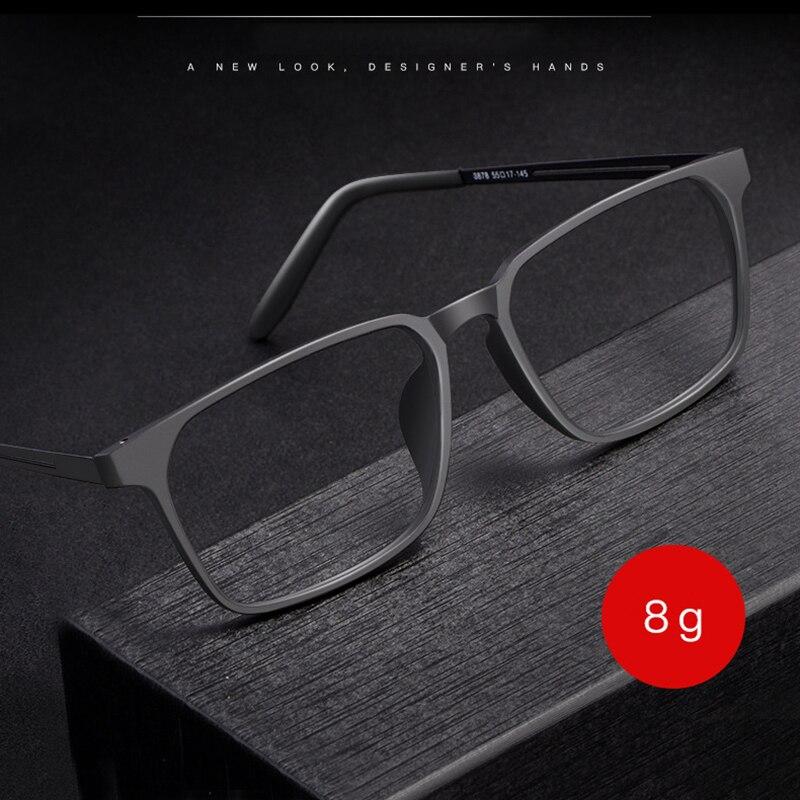 Gmei-Montura de gafas ópticas para hombres y mujeres, patas flexibles de titanio 8878 con borde frontal de plástico TR90, marco de gafas