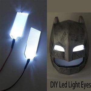 DIY LED Light Eyes Kits FOR 1:1 Iron Man Black Panther Batman Helmet Cosplay Eyes Light White Colour Mask Accessories(China)