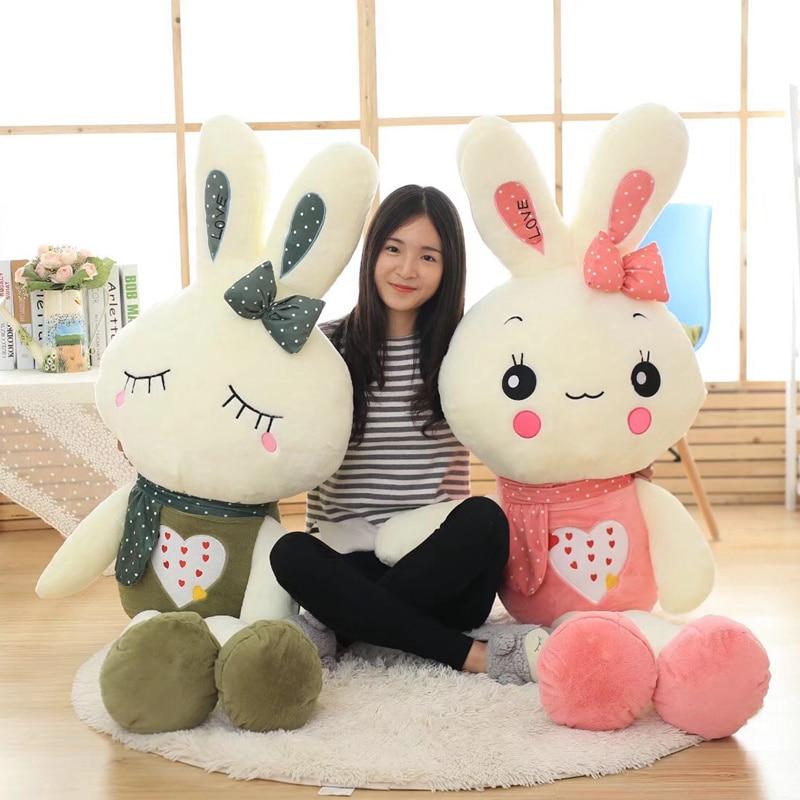 Игрушка плюшевая мягкая в виде кролика, 50-150 см