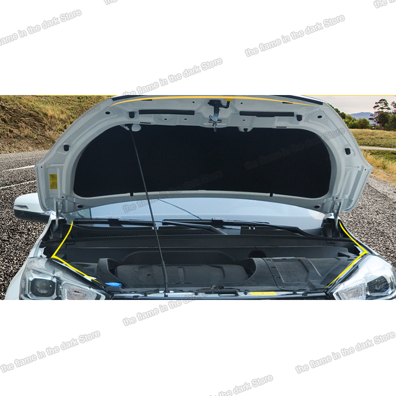 Lsrtw2017 Rubber Car Engine Hood Door Trunk Edge Sound Isolation Strip Sealed Strip For Chery Tiggo 8 2018 2019 2020