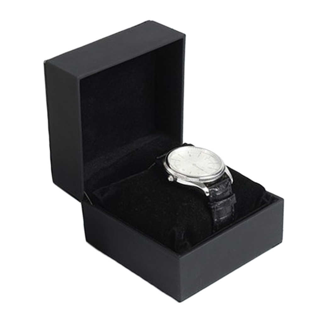 PU deri deri tek Slot izle kutusu kasa organizatör saat saatler takı kutuları kılıf vitrini en iyi hediye