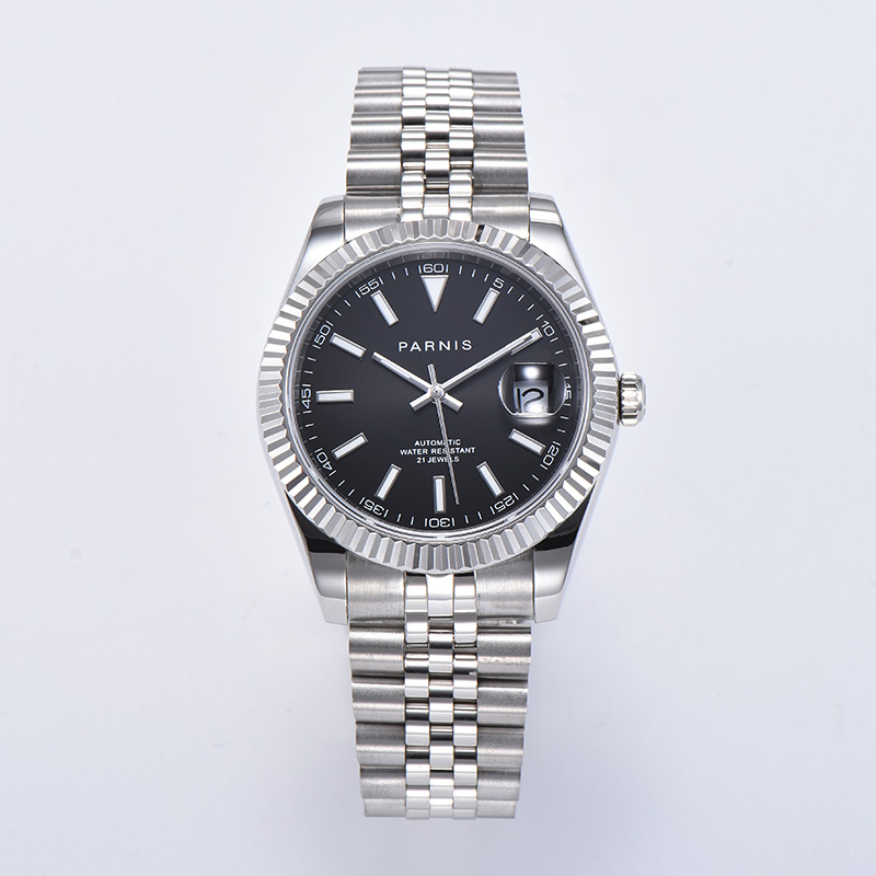 Parnis 39.5mm Automatic Mechanical Mens Watches Miyota 8215 Movement Men Watch horloges mannen jam tangan pria 2020 box man gift